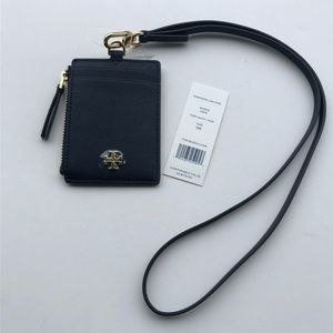 Tory Burch Emerson Lanyard ID Holder - Tory Navy